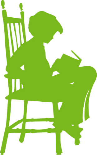 Green Reading Child Logo
