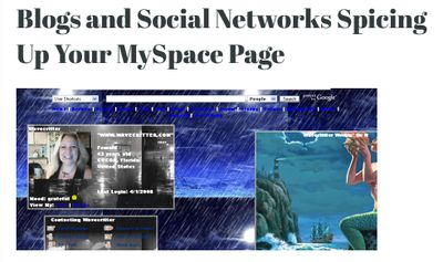 Blogs and Social Networks Wavecritter Myspace