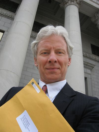 Jeff Peckman On The Steps of Denver City And County Building