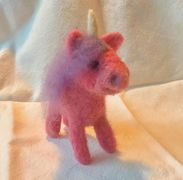 unicorn figure  needle felting kit  how to needle felt  needle felt unicorn