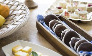 MONICA HERNDON | TimesA variety of snack foods, including whoopie pies prepared by Laura Jolly, on M