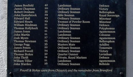 Men of Brentford & Chiswick who served at Trafalgar