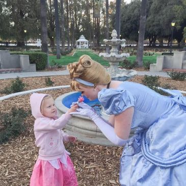 Our Glass Slipper Princess loves special visits with little princesses!