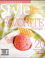 susquehanna style magazine cover, favorite things, strawberry champagne gelato