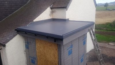 A flat roof installation we've provided in Perthshire