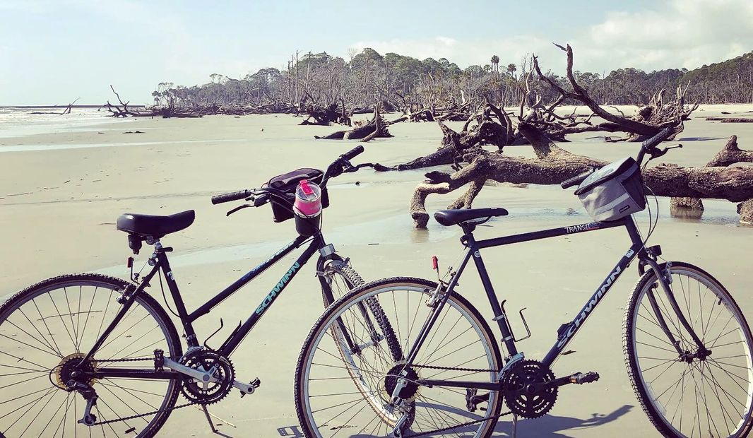 Hunting Island State Park in South Carolina. Bike Riding on the beach!