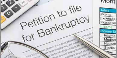 Picture of a make-believe petition to file bankruptcy.