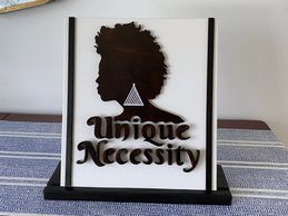 Create a handcrafted rendition of your business logo design either as a wall or table top display..