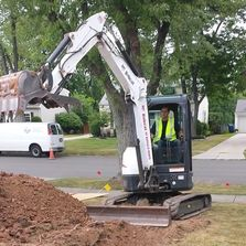 sewer pipe excavation drain cleaning roots jeffrey plumbing clogged dig trench