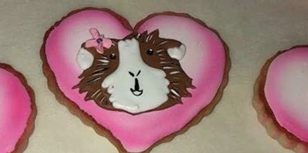 custom hamster themed cookie