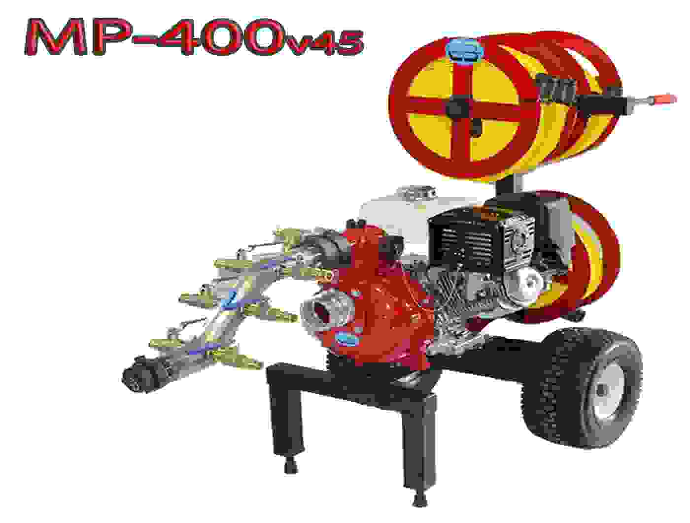 Code 3 water MP-400 v.45 wildfire mobile fire water pump cart system