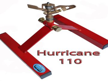 the hurricane 110  roof mounted fire sprinkler that sprays 110 feet