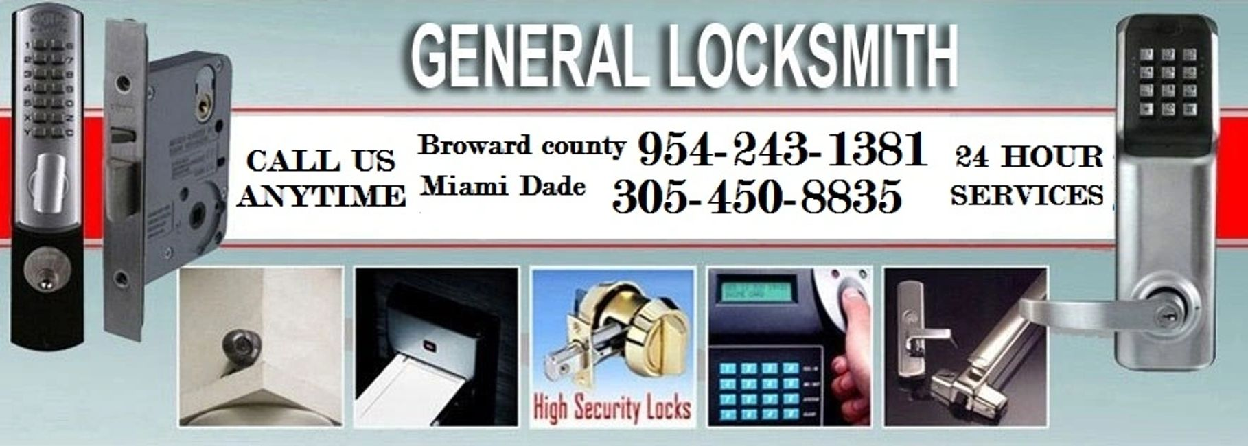 General Locksmith 954-243-1381  mobile locksmith