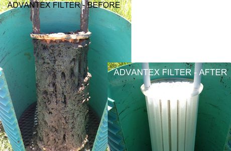 Advantex Bio Filter - Before and After Used on AX20 systems and reccomended in general
