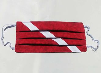 Dive Flag Fabric Face Mask