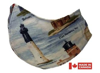 Lighthouses Pocket Face Mask