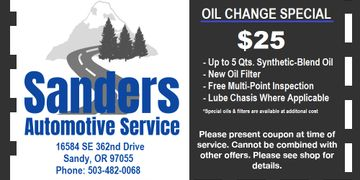 oil change coupon sandy