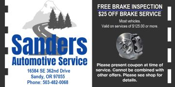 auto repair coupon, brake coupon