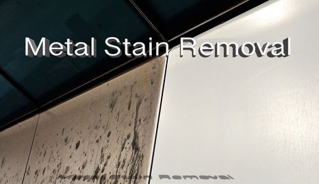 We removed Stain without scratching metal surface.