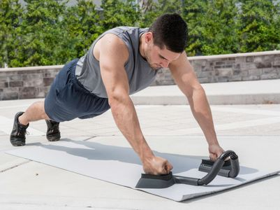 The abmill plank trainer, perfect for a  full body workout, keeping you steady while you workout.