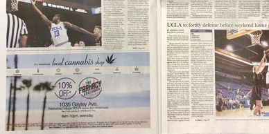 A Cannabis Promotional Advertisement: UCLA's Daily Bruin