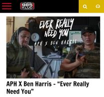 APH on 98.5 KLUC radio station with Ben Harris for their song Ever Really Need You from Knightmares