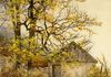 Ray Hendershot AUTUMN OUTBUILDING 1 Acrylic on Canvas, 12 x 9 inches