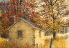 Ray Hendershot AUTUMN OUTBUILDING 2 Acrylic on Canvas, 12 x 9 inches
