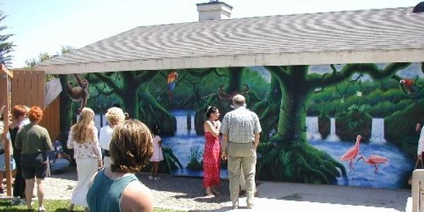 Photograph of rain forest mural unavailing!