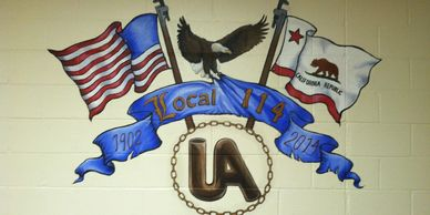 This is the mural located in the main hall of Plumbers Local 114, Santa Barbara California