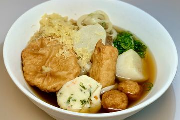 Oden udon, fish cake