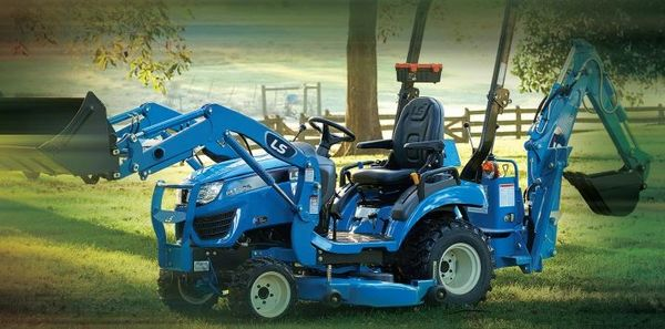 Sub-compact Tractor with Belly Mower & Backhoe
