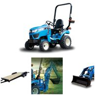 Sub-compact tractor packages