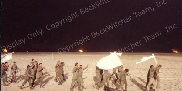 Iraqi POWs surrendering during Desert Storm to Delta Company 3D LAI Bn