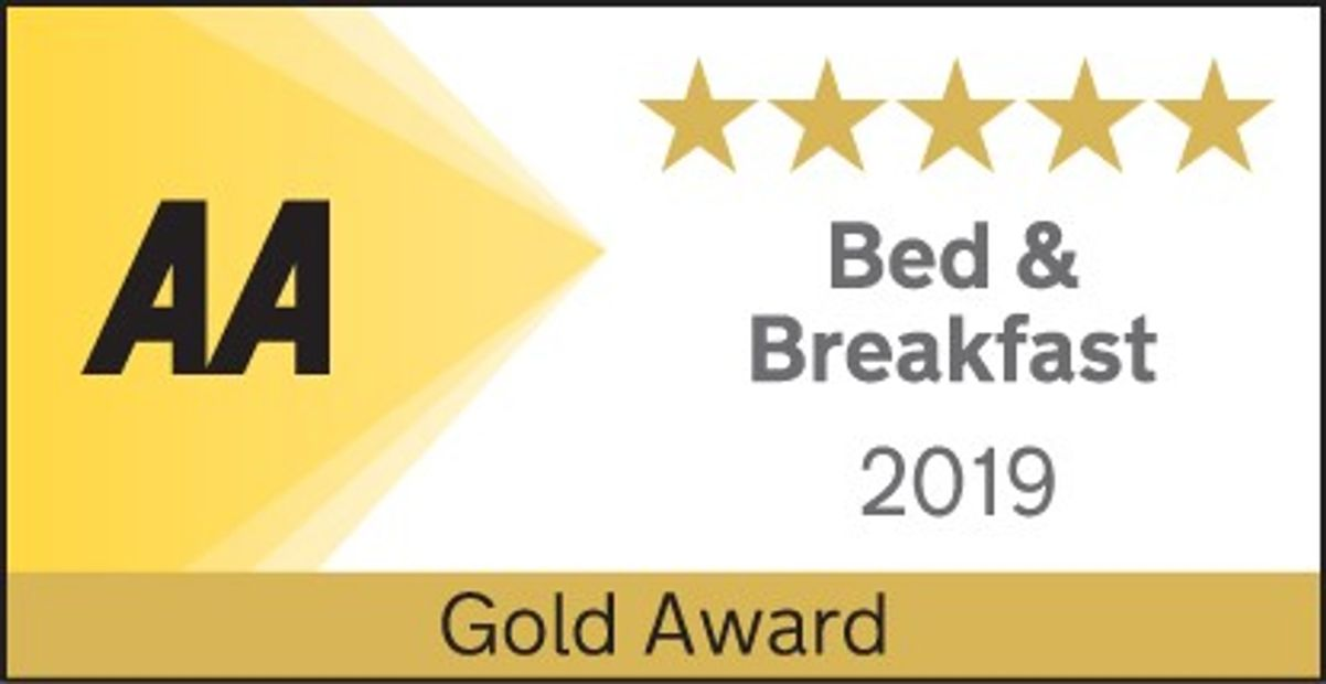AA 5 Star Gold Award for Bed & Breakfast 2019