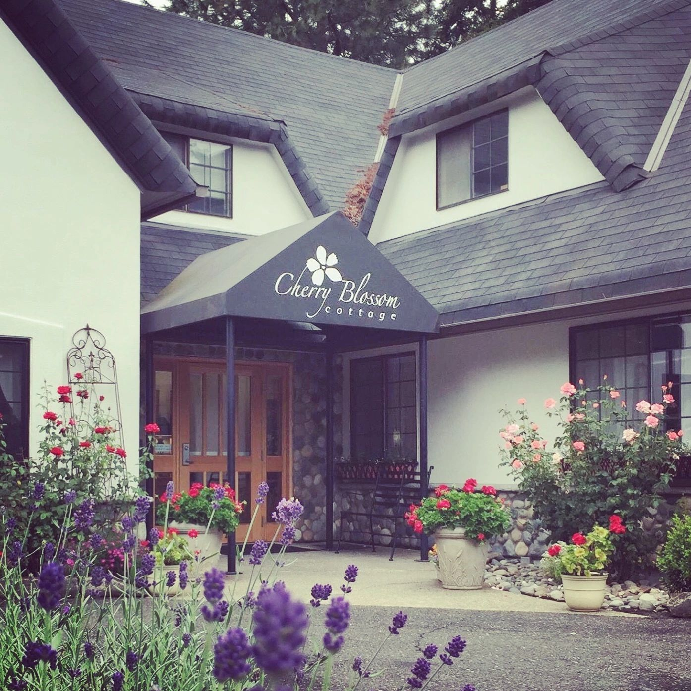 A photo of Cherry Blossom Cottage's front exterior.