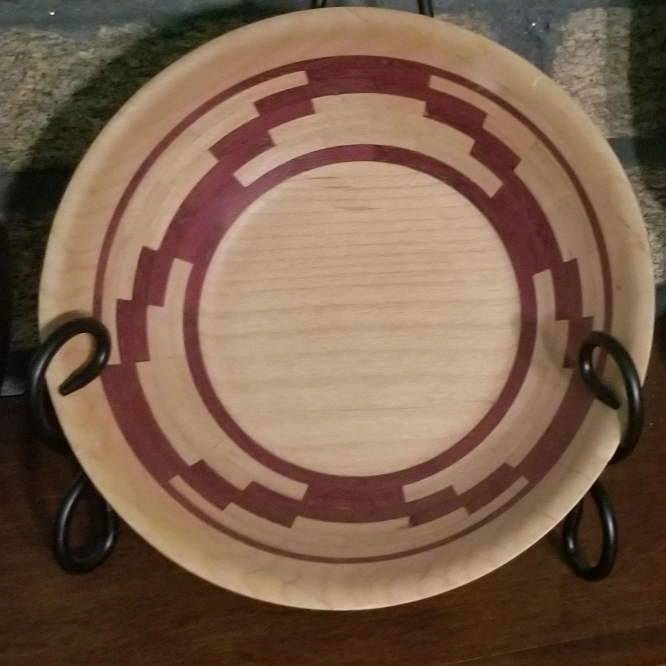 Purple Heart and Poplar Bowl