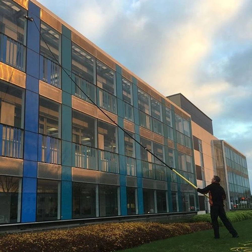 Office window cleaning commercial window cleaning high window cleaning pole window cleaning ecoreach