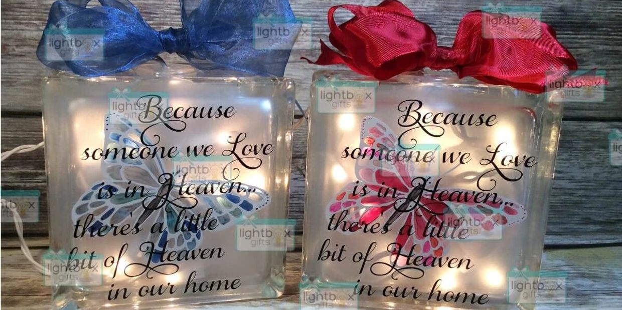 Because someone we love is in Heaven, there's a little bit of Heaven in our home  handpainted