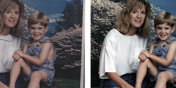 Extra Light Photo Restoration examples from $12  by Art & Frame in Wichita, Kansas