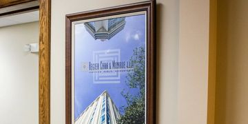 Regier Carr & Monroe LLP custom frame & canvas prints projects completed by Art & Frame in Wichita