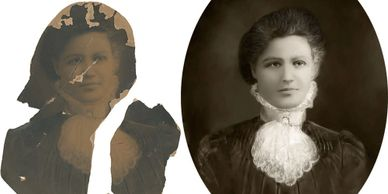 Heavy Photo Restoration in Wichita before and after example