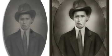 Light Photo Restoration examples from $24  by Art & Frame in Wichita, Kansas