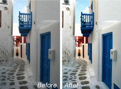Before and after of free image file adjustments with image capture and scanning services in Wichita,