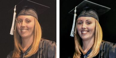 Photo of graduate showing our expert photo retouching and portrait retouching in Wichita