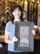 Testimonial for Art & Frame in Wichita with example of custom framing of oil painting.