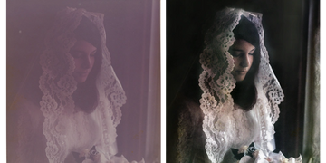 Heavy Photo Restoration examples from $79  by Art & Frame in Wichita, Kansas