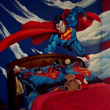 Superman mural by Dave Diaz Dzart & Murals.