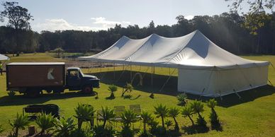 9m x 9m Rope and pole marquee  9m x 15m Rope and pole marquee 9m x 21m Rope and pole marquee