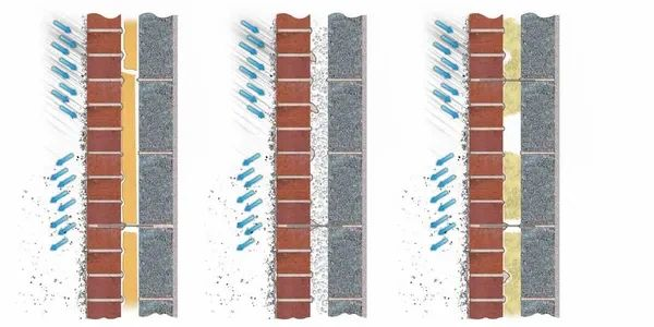 Stormdry damp proofing cavity wall insulation